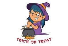 Vectorbeeldverhaalillustratie van Leuk Halloween vector illustratie
