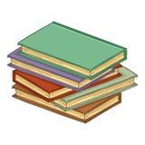 Vectorbeeldverhaalstapel van Hardcover-Boeken royalty-vrije illustratie