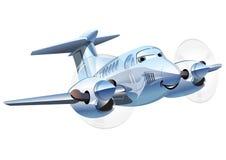Vectorbeeldverhaalvliegtuig Stock Fotografie