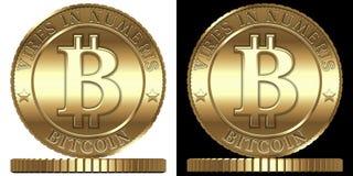 Vectorbitcoin Royalty-vrije Stock Afbeeldingen