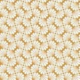Vectorbloem Abstract Naadloos Patroon Art Deco Style Background Geometrische textuur Royalty-vrije Stock Afbeelding