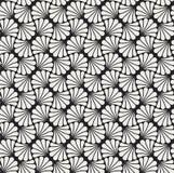 Vectorbloem Abstract Naadloos Patroon Art Deco Style Background Geometrische textuur Stock Foto