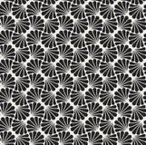 Vectorbloem Abstract Naadloos Patroon Art Deco Style Background Geometrische textuur Royalty-vrije Stock Foto's