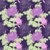 Vectorbloem Naadloos Patroon Royalty-vrije Stock Afbeelding
