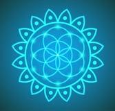 Vectorbloem van het Levens Heilige Meetkunde in Lotus Flower Illustration Royalty-vrije Stock Afbeeldingen