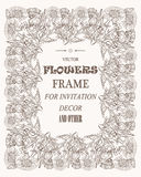 Vectorbloemen mooi kader voor foto's, decoratie en om het even welk geval Royalty-vrije Stock Foto