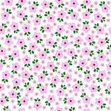 Vectorbloemen naadloos geklets De Banner van bloemen Background Royalty-vrije Stock Foto's