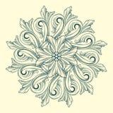 Vectorbloemmedaillon Stock Afbeeldingen