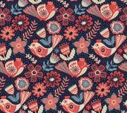 Vectorbloempatroon, naadloze botanische textuur Royalty-vrije Stock Fotografie