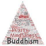 Vectorboeddhisme, meditatie, verlichting stock illustratie