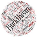 Vectorboeddhisme, meditatie, verlichting, karma stock illustratie