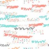 Vectorboho naadloos patroon met gewaagde binnen lijnen Stock Foto