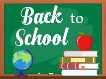 Vectorbord en terug naar schoolconcept Stock Afbeelding