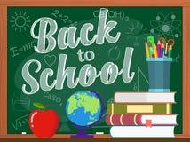 Vectorbord en terug naar schoolconcept Royalty-vrije Stock Foto's