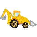 Vectorbouwgraver Vectorgraafwerktuig stock illustratie