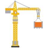 Vectorbouwkraan Vectorkraan royalty-vrije illustratie