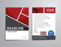 Vectorbrochure, vlieger, het ontwerp van de het boekjesaffiche van de tijdschriftdekking Royalty-vrije Stock Foto