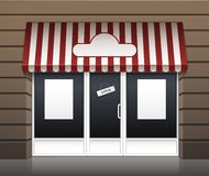 Vectorbuitenkant van de Voorzijde van de Restaurantkoffie Royalty-vrije Stock Foto
