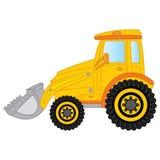 Vectorbulldozer Bulldozer vectorillustratie royalty-vrije illustratie