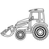 Vectorbulldozer Bulldozer vectorillustratie stock illustratie