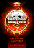 Vectorburning  poster template for night casino party Stock Photography
