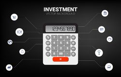 Vectorcalculator met functioneel pictogram stock illustratie