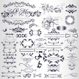 Vectorcalligraphic elements and page decorations in vintage style Royalty Free Stock Photo