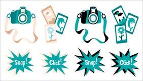 Vectorcamera in twee stijlen Royalty-vrije Stock Foto's