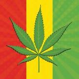 Vectorcannabisblad stock illustratie