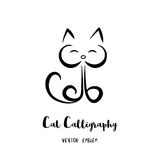 Vectorcat calligraphy emblem Royalty-vrije Stock Foto