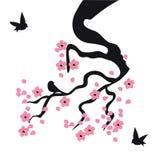 Vectorcherry blossom Royalty-vrije Stock Foto