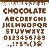Vectorchocolade Latijns alfabet stock illustratie