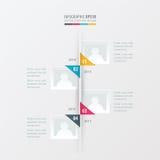 Vectorchronologie gele, blauwe, roze kleur Royalty-vrije Stock Fotografie