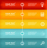 Vectorchronologie Infographic Kleurrijk malplaatje Royalty-vrije Stock Foto