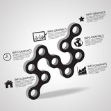 Vectorcirkel bedrijfsconceptenverbinding met pictogrammen, Illustratie eps 10 Royalty-vrije Stock Afbeelding