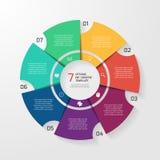 Vectorcirkel infographic malplaatje voor grafieken, grafieken, diagrammen Stock Foto