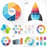 Vectorcirkel infographic reeks Bedrijfsdiagrammen vector illustratie