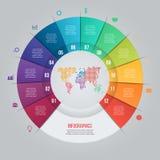 Vectorcirkeldiagrammalplaatje voor grafieken, grafieken, diagrammen Stock Foto's