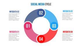 Vectorcirkelelement voor infographic Royalty-vrije Stock Foto's