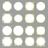 Vectorcirkelkader op gfeyachtergrond Stock Afbeeldingen