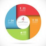 Vectorcirkelmalplaatje voor bedrijfsinfographics Stock Afbeelding