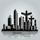 Vectorcityscape van Vancouver Royalty-vrije Stock Afbeelding