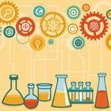 Vectorconcept - chemie en wetenschapsonderzoek Stock Foto