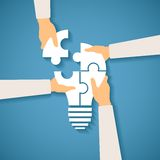 Vectorconcept creatief groepswerk Stock Afbeeldingen