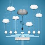 Vectorconcept creatief netwerk Stock Foto's
