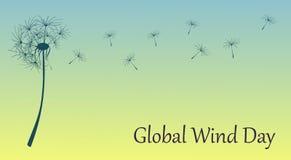 Vectorconcept de globale illustratie van de winddag Ecologische vakantie royalty-vrije illustratie