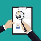 Vectorconcept die personeelsbeheer, personeel vinden stock illustratie