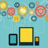Vectorconcept - mobiele app infographics vector illustratie