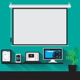 vectorconcept moderne bedrijfswerkruimte Stock Fotografie