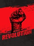 Vectorconcept van Grunge van het revolutie het Sociale Protest Creatieve Vrijheidsillustratie op Ruwe Grunge-Achtergrond Stock Afbeeldingen